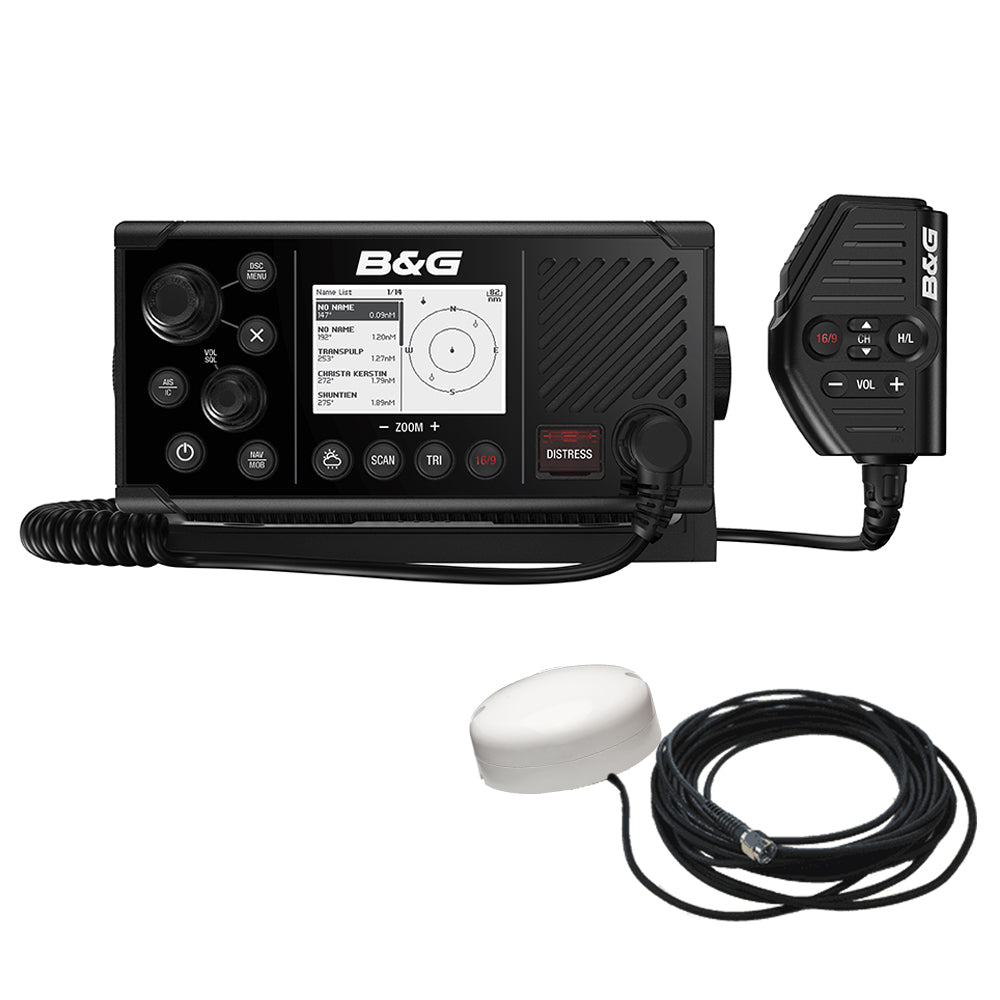 BG V60-B VHF Marine Radio w/DSC, AIS (Receive  Transmit)  GPS-500 GPS Antenna [000-14819-001] | Catamaran Supply