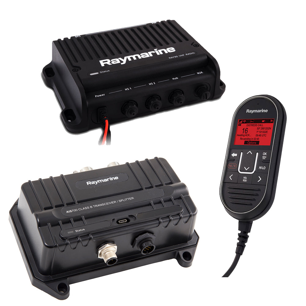 Raymarine Ray90 VHF Radio  AIS700 Bundle [T70424] | Catamaran Supply