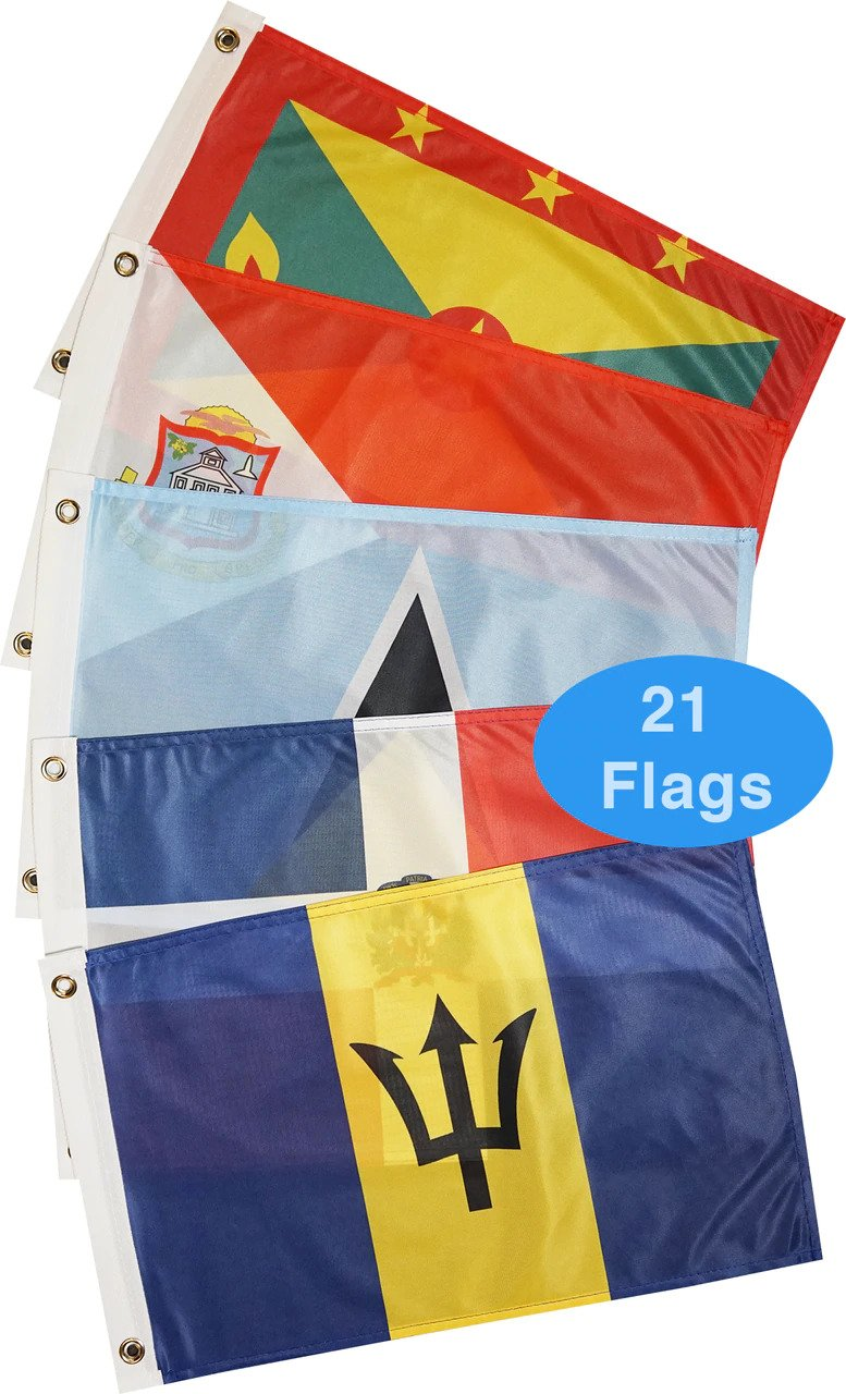 Eastern Caribbean Courtesy Flag Pack | Catamaran Supply