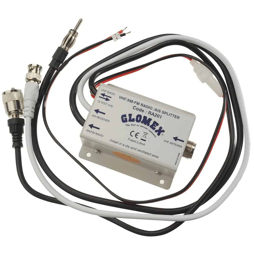 Glomex VHF/AIS/Radio Splitter - 12VDC [RA201] | Catamaran Supply