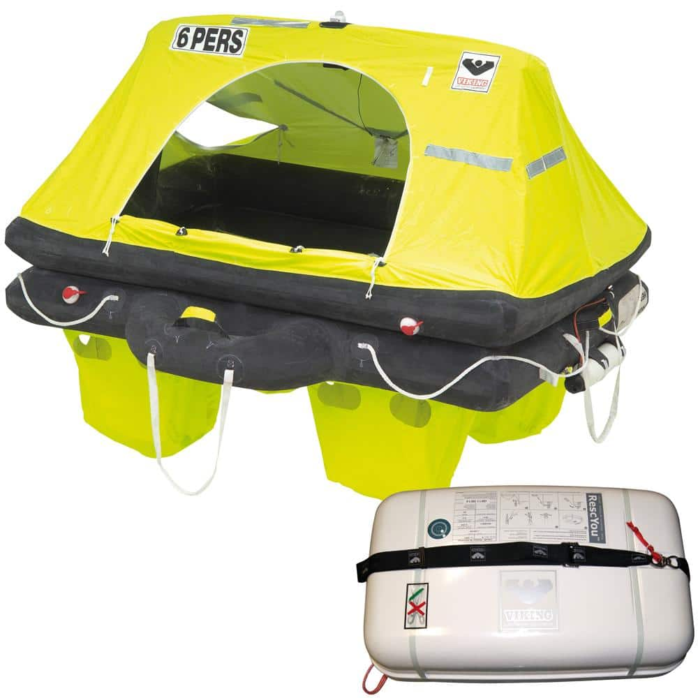 VIKING RescYou Liferaft 6 Person Container Offshore Pack [L006U00741AME] | Catamaran Supply