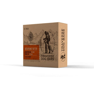 Traverse Dog Bars: Beef & Peanut Butter 12 Pack