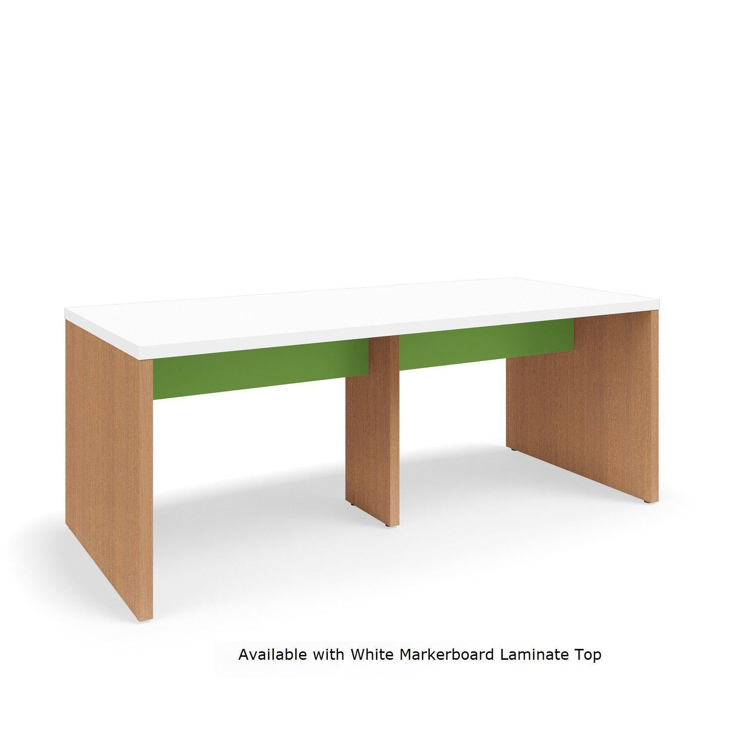 "Serenade Gathering Table, Café Height, Double-Sided, 48"" x 108"" x 42""H, Contrast Laminate"