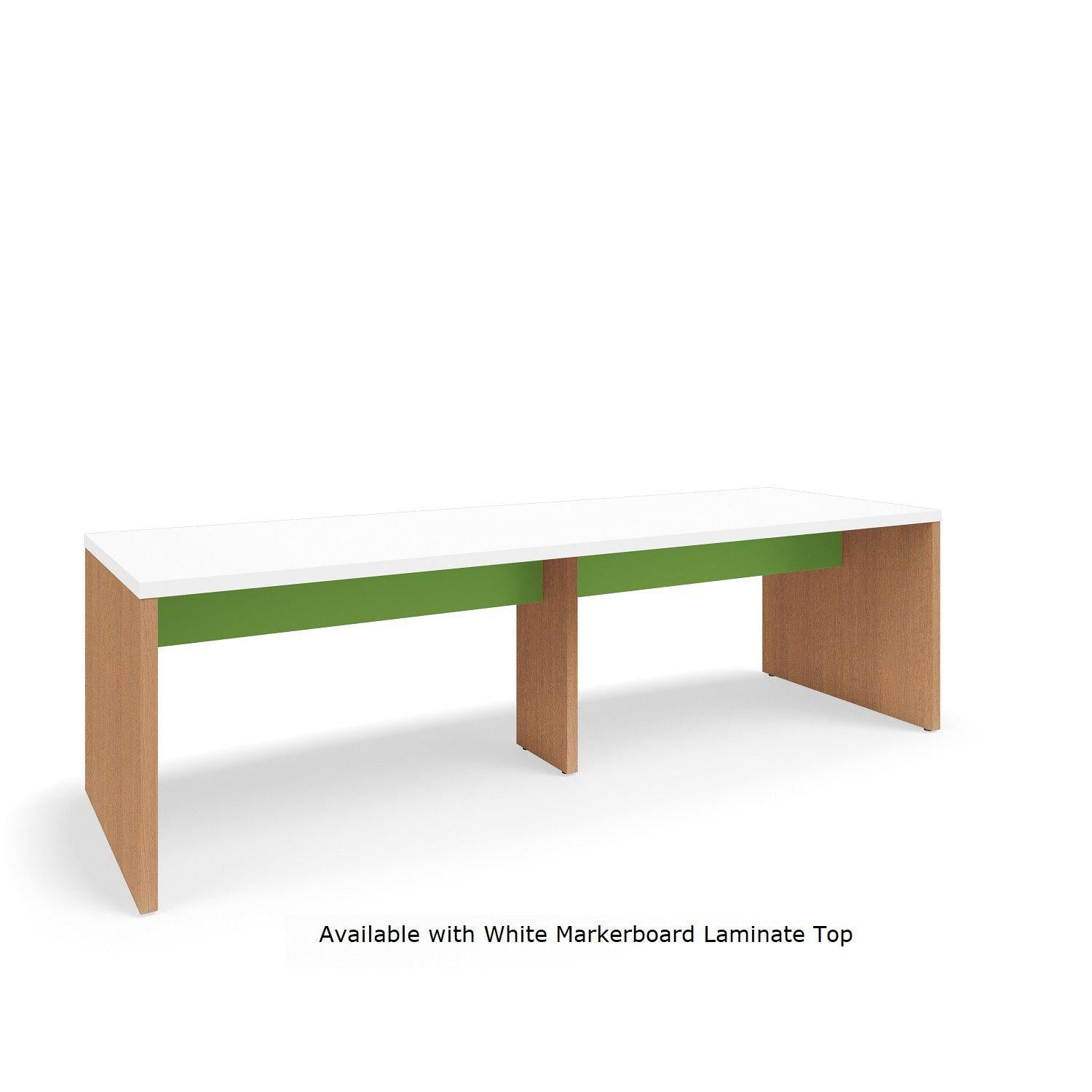 "Serenade Gathering Table, Café Height, Double-Sided, 48"" x 144"" x 42""H, Contrast Laminate"