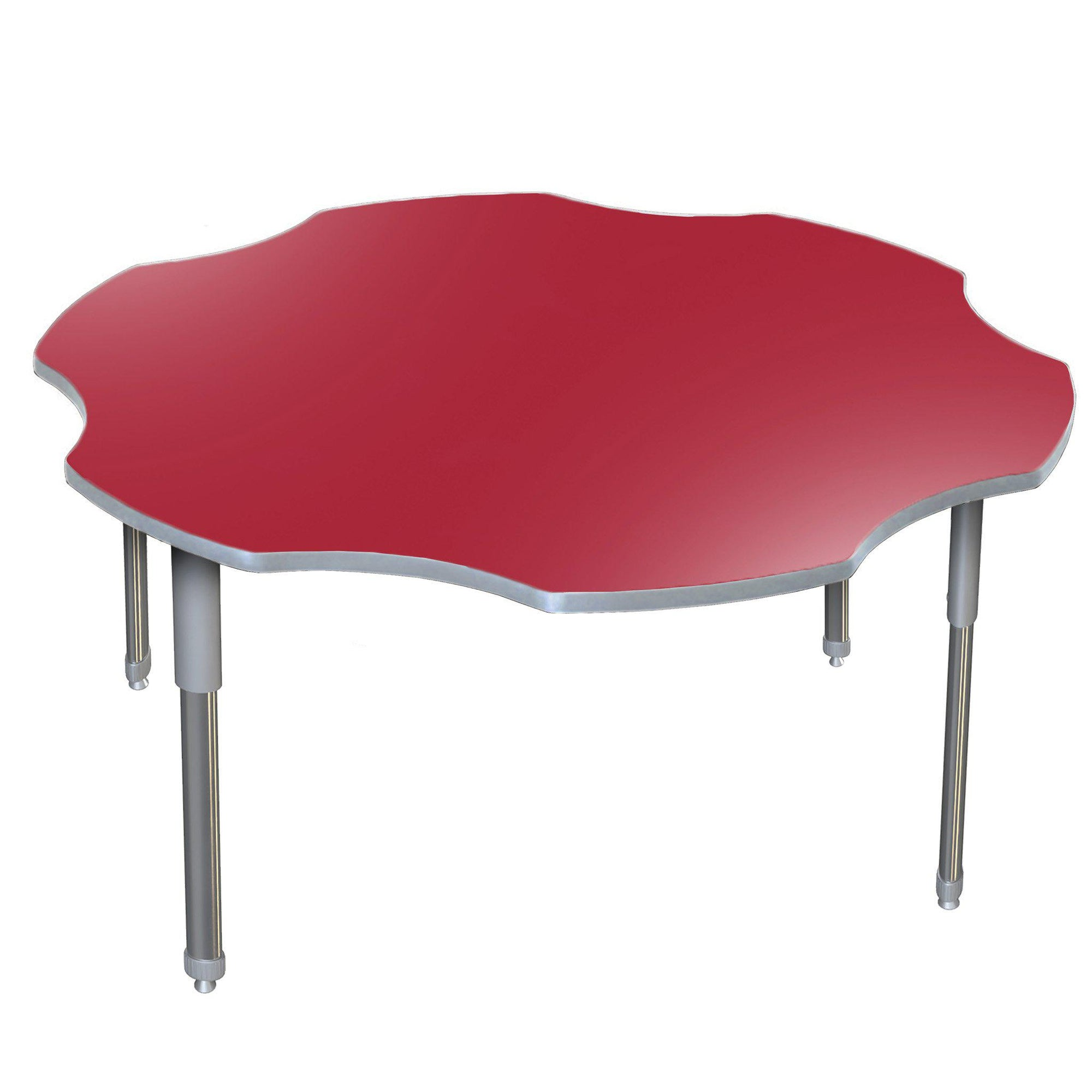 "Aero Activity Table, 60"" x 60"" Flower, Oval Adjustable Height Legs"