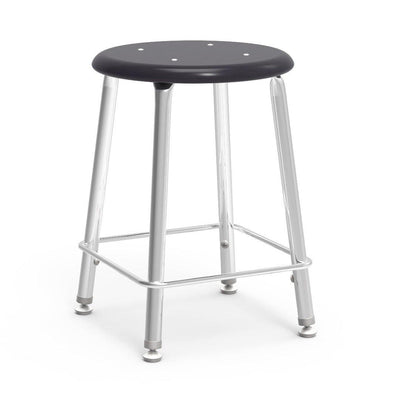 "121 Series Lab Stools with Hard Plastic Seats-Stools-18""-Black-"