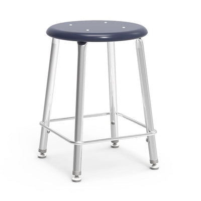 "121 Series Lab Stools with Hard Plastic Seats-Stools-18""-Navy-"