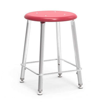 "121 Series Lab Stools with Hard Plastic Seats-Stools-18""-Red-"