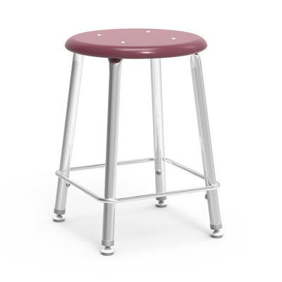 "121 Series Lab Stools with Hard Plastic Seats-Stools-18""-Wine-"
