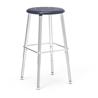 "121 Series Lab Stools with Hard Plastic Seats-Stools-19"" - 27"", Adj.-Navy-"