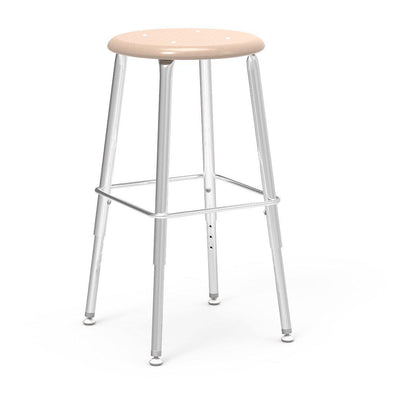 "121 Series Lab Stools with Hard Plastic Seats-Stools-19"" - 27"", Adj.-Sandstone-"