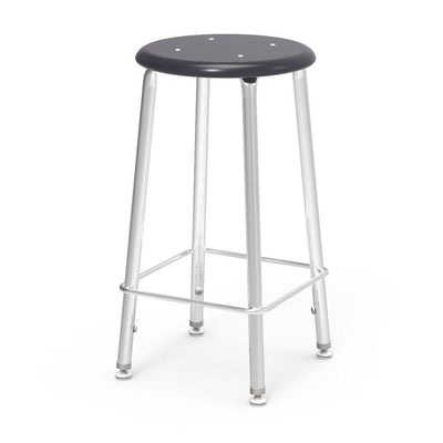"121 Series Lab Stools with Hard Plastic Seats-Stools-24""-Black-"