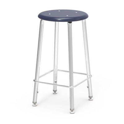 "121 Series Lab Stools with Hard Plastic Seats-Stools-24""-Navy-"
