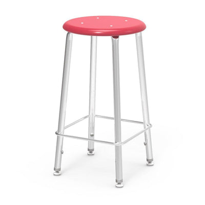 "121 Series Lab Stools with Hard Plastic Seats-Stools-24""-Red-"
