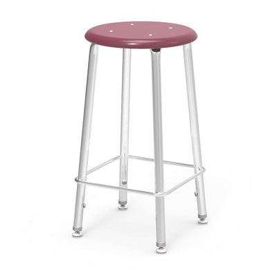"121 Series Lab Stools with Hard Plastic Seats-Stools-24""-Wine-"