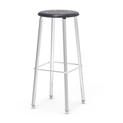 "121 Series Lab Stools with Hard Plastic Seats-Stools-30""-Black-"