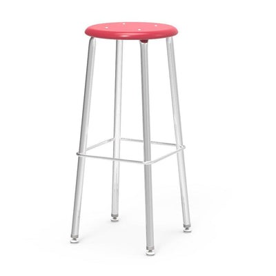 "121 Series Lab Stools with Hard Plastic Seats-Stools-30""-Red-"