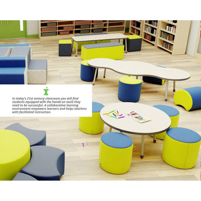 Fomcore Ottoman Series Pentagon with 100% ALL-FOAM CORE, Antibacterial Vinyl Upholstery, LIFETIME WARRANTY