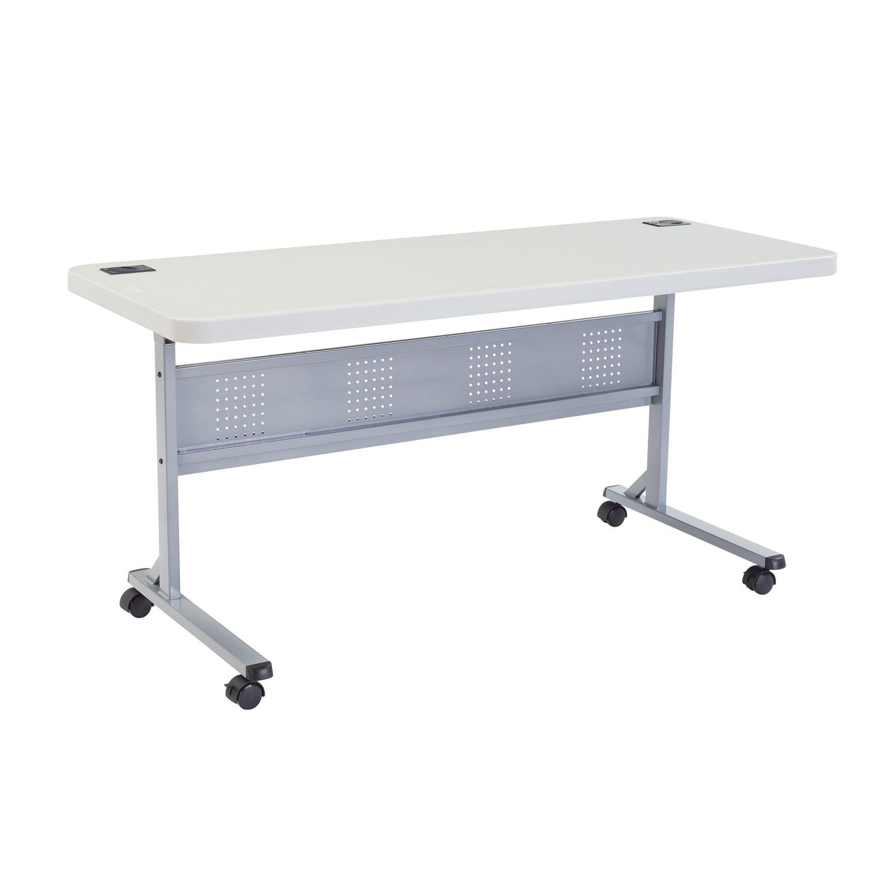 "24"" x 60"" Flip-N-Store Training Table-Tables-Speckled Grey-24"" x 60""-"