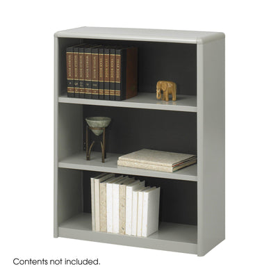 3-Shelf ValueMate® Economy Bookcase-Storage Cabinets & Shelving-Gray-