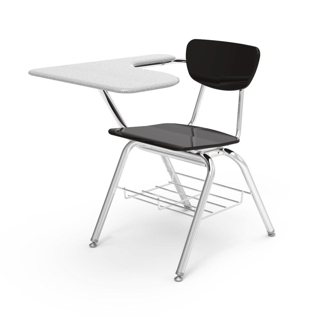 3000 Series Chair Desk with Tablet Arm Top-Chairs-Black-Grey Nebula-