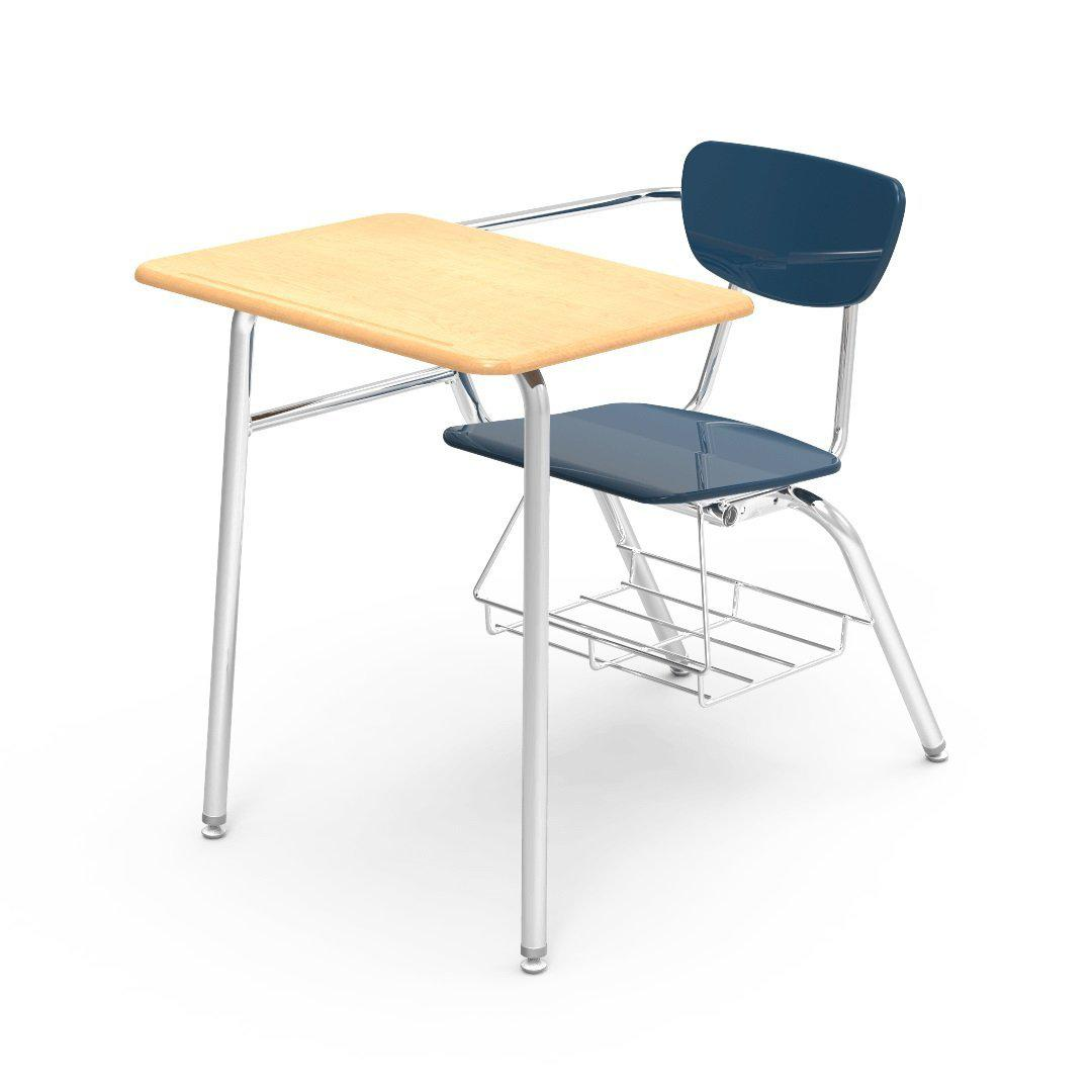 "3000 Series Combo Unit with 18"" x 24"" Top-Desks-Navy-Fusion Maple-"