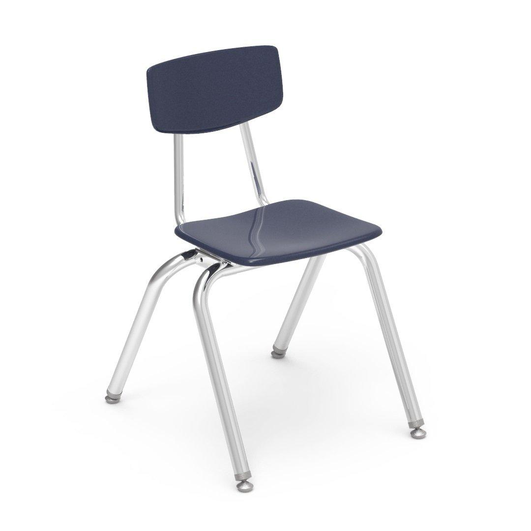 Nextgen Solid Hard Plastic 4-Leg Stack Chairs