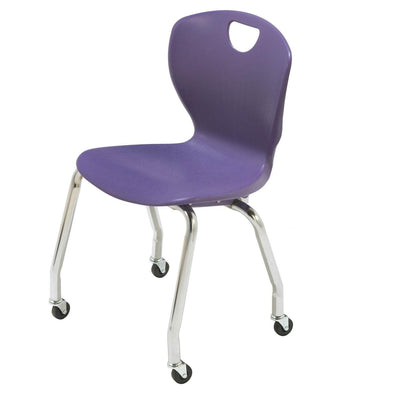 "Ovation Contemporary Classroom Chair with Casters, 18"" Seat Height"
