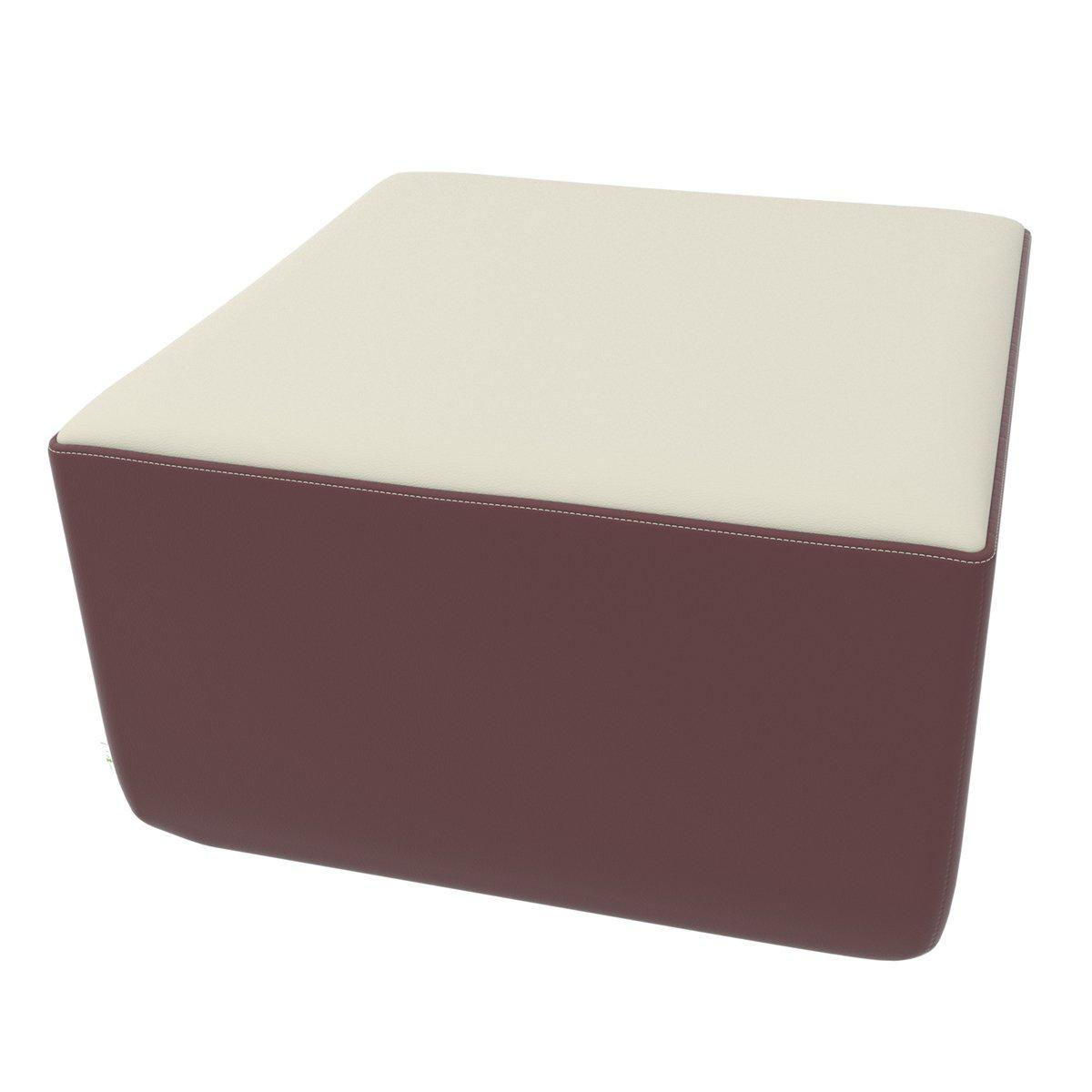 Fomcore Armless Series Linear Corner Ottoman with 100% ALL-FOAM CORE, Antibacterial Vinyl Seat with Patterned Vinyl Sides, LIFETIME WARRANTY