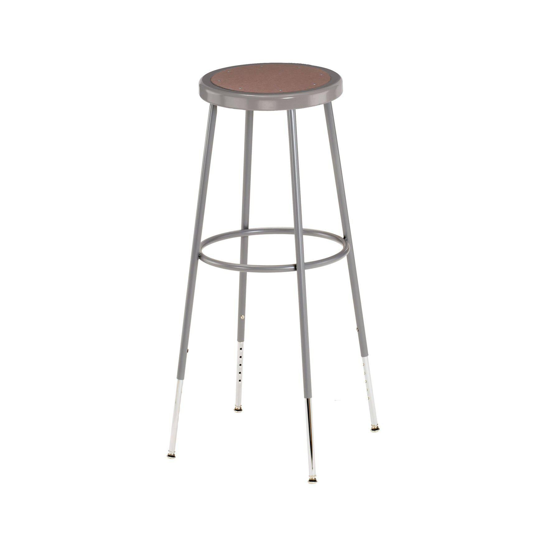 "32""-39"" Height Adjustable Heavy Duty Steel Stool-Stools-"