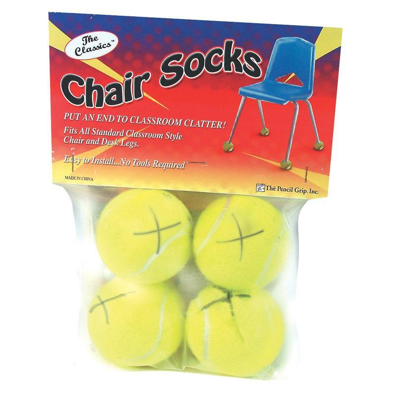 Chair Socks Floor Protectors, Bag of 4, Yellow