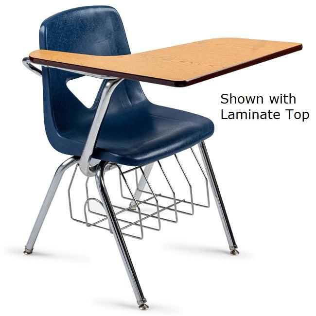 "420 Series Chair Desk, 17-1/2"" Seat Height, Solid Hard Plastic Top, with Bookrack"
