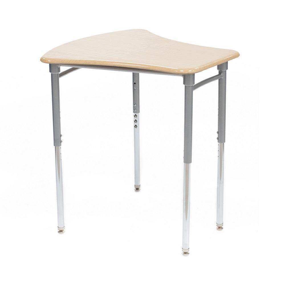 Kaleidoscope Collaborative Learning Adjustable Height Vertebrae Desk with Solid Plastic Top - QUICK SHIP