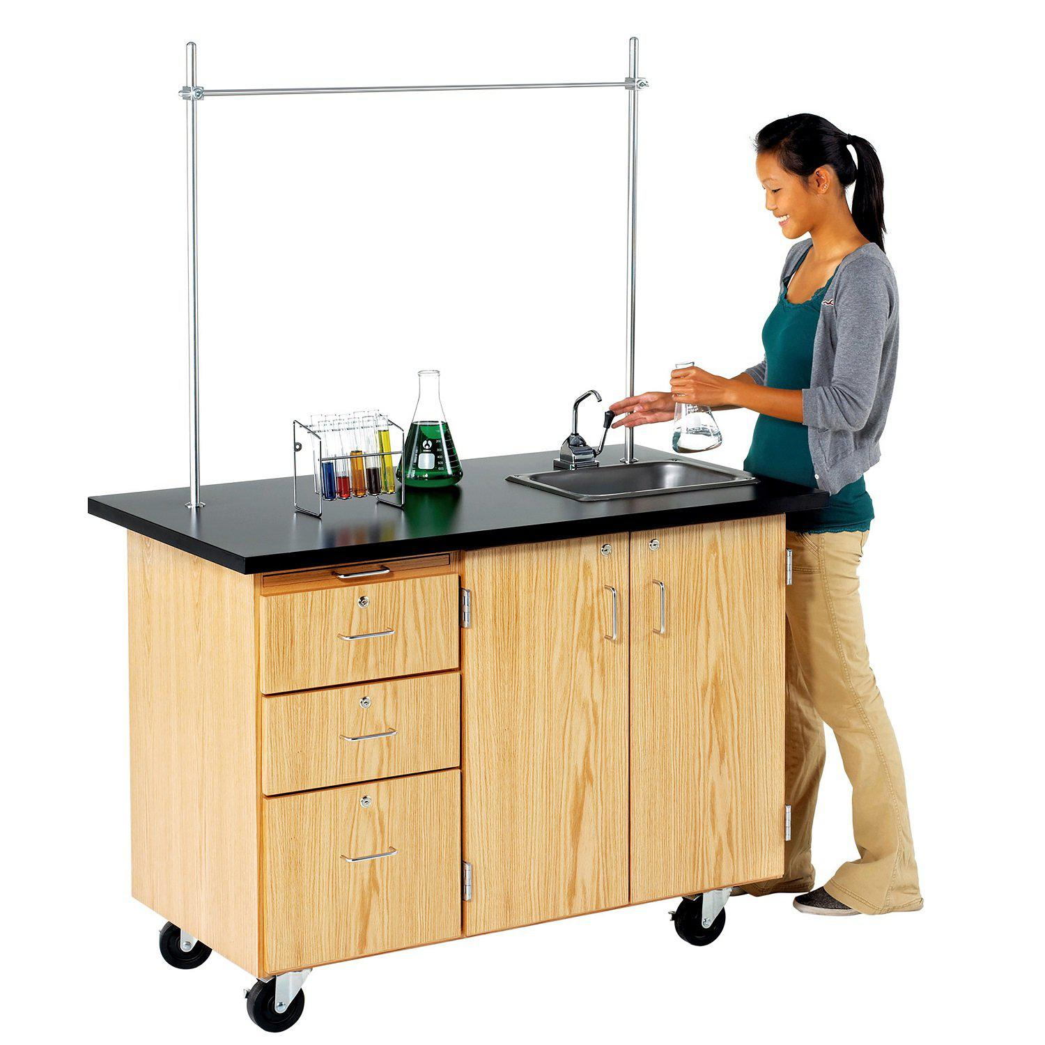 Mobile Instructor's Desk With Storage