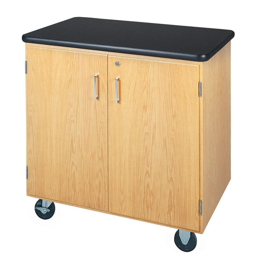 Mobile Storage Cabinet with Plastic Laminate Top