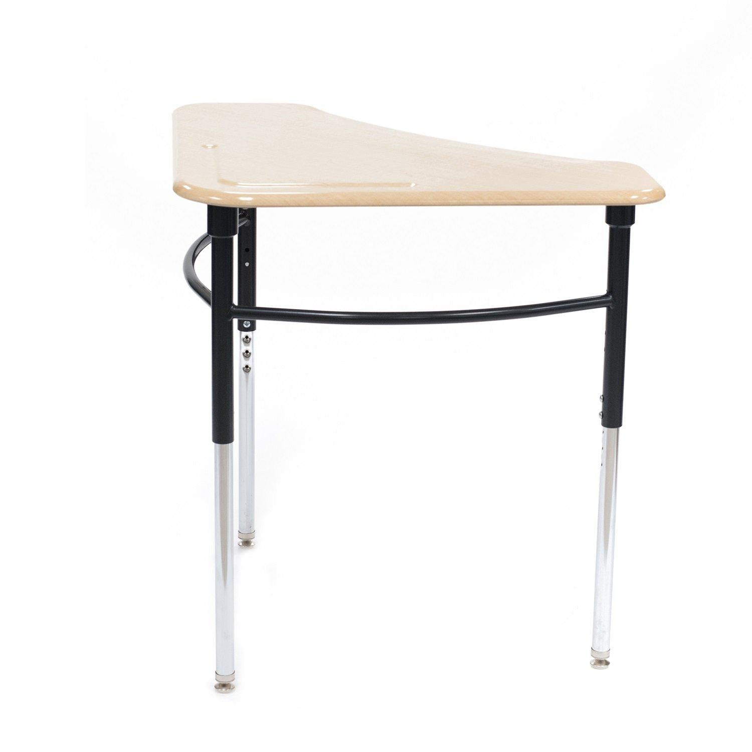 Kaleidoscope Collaborative Learning  Adjustable Height Triangle Desk with Solid Plastic Top - QUICK SHIP