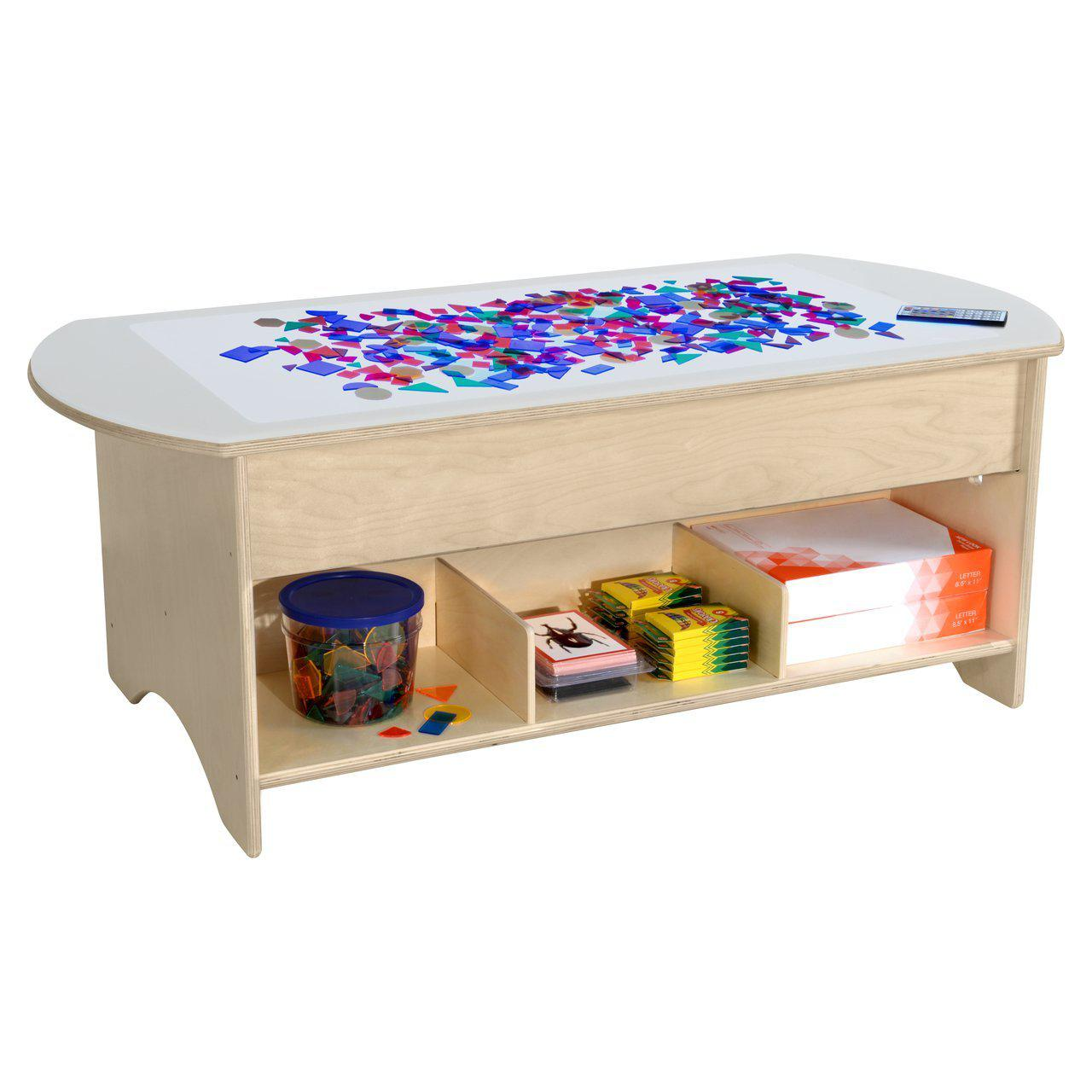 "48"" Brilliant Light Table with Storage"