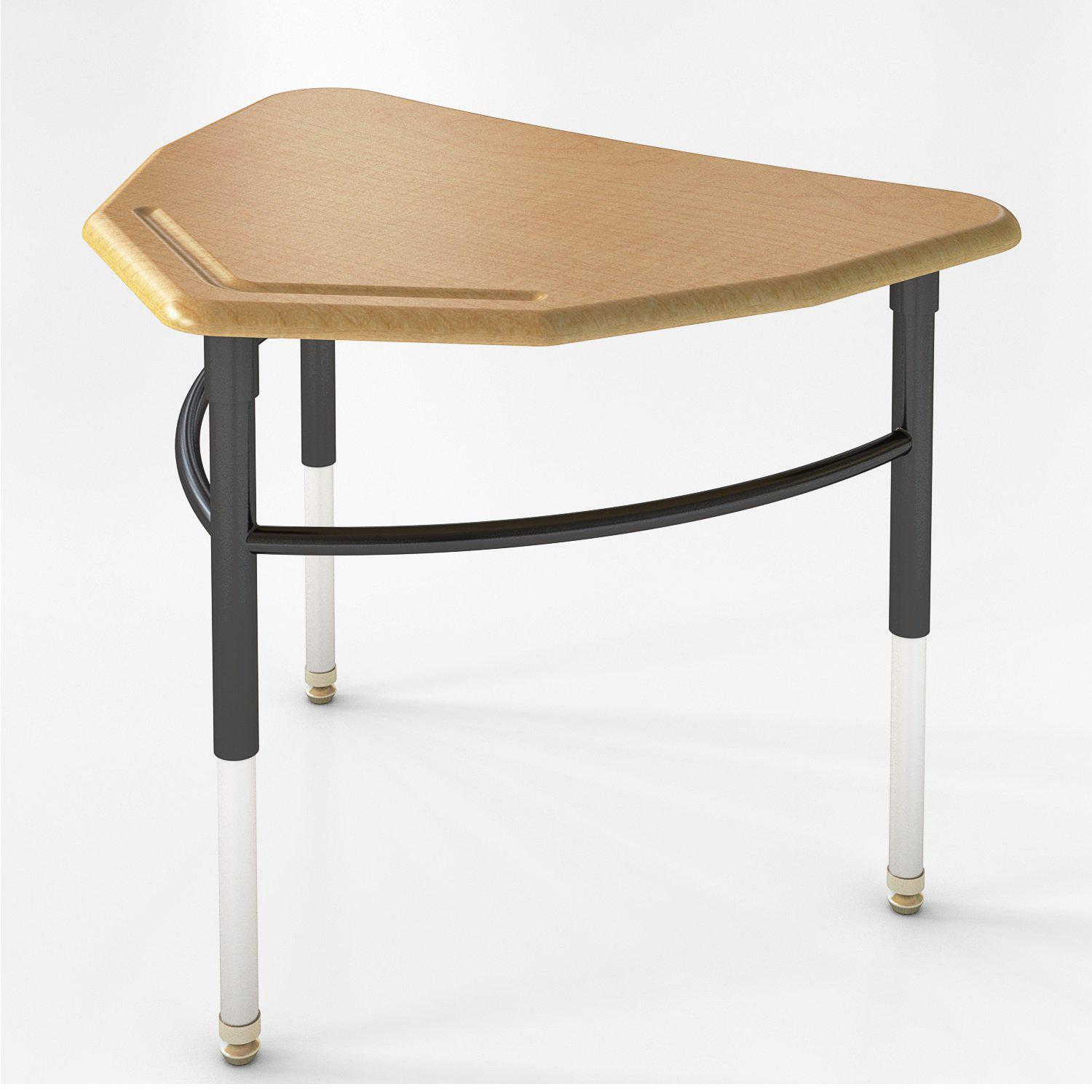 Kaleidoscope Collaborative Learning  Adjustable Height Diamond Desk with Solid Plastic Top