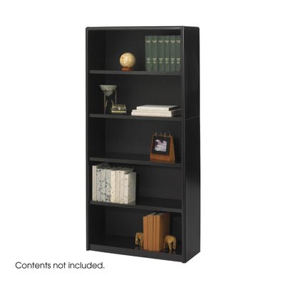 5-Shelf ValueMate® Economy Bookcase-Storage Cabinets & Shelving-Black-