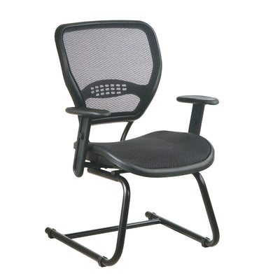 Dark Air Grid® Deluxe Visitor's Chair