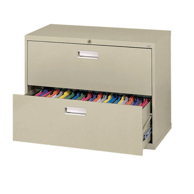600 Series Lateral File, 2 Drawer, 36 x 19.25 x 28.375, Putty