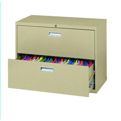 600 Series Lateral File, 2 Drawer, 36 x 19.25 x 28.375, Tropic Sand