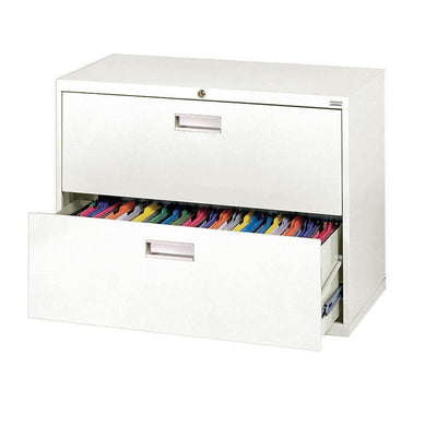 600 Series Lateral File, 2 Drawer, 36 x 19.25 x 28.375, White