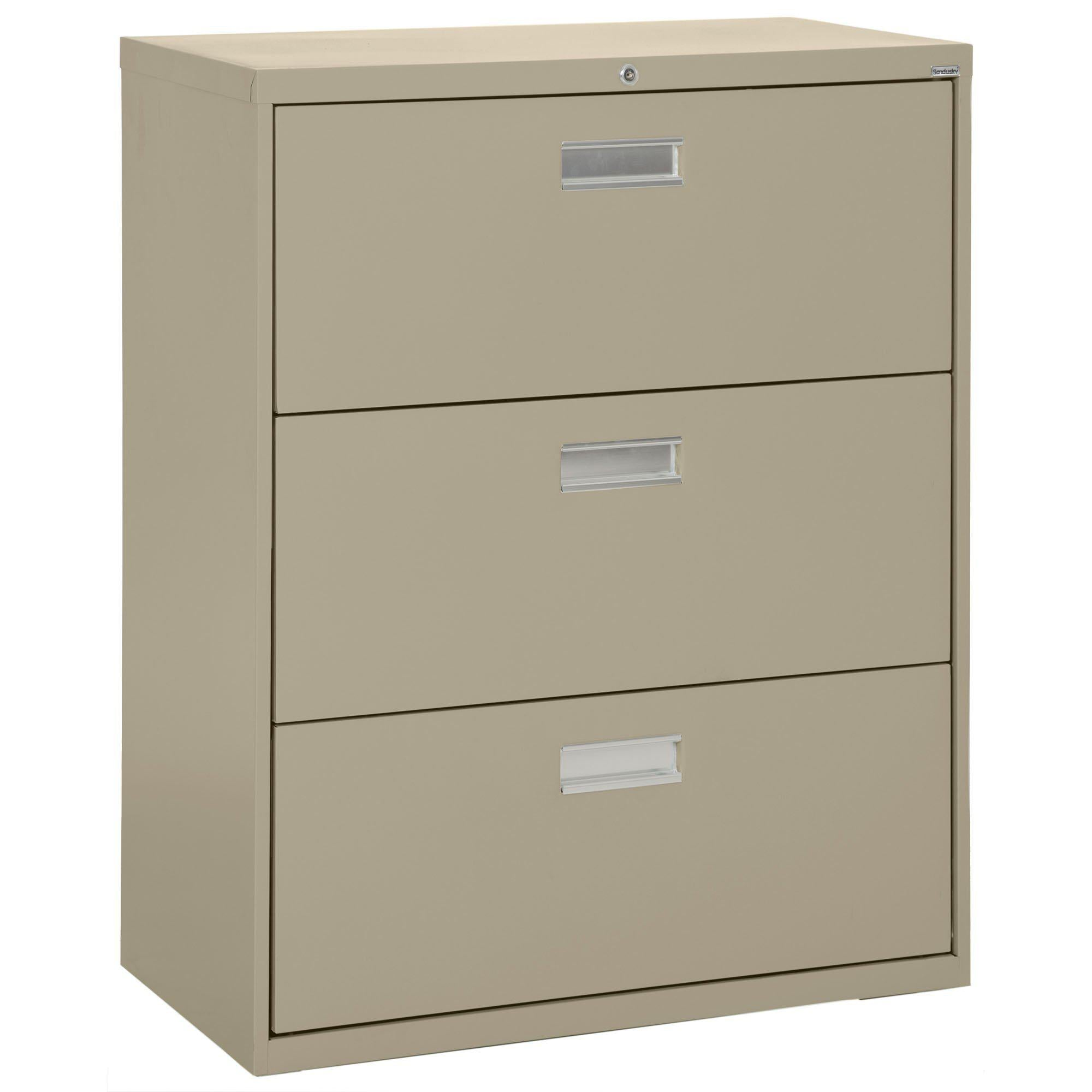 600 Series Lateral File, 3 Drawer, 36 x 19.25 x 40.875, Tropic Sand