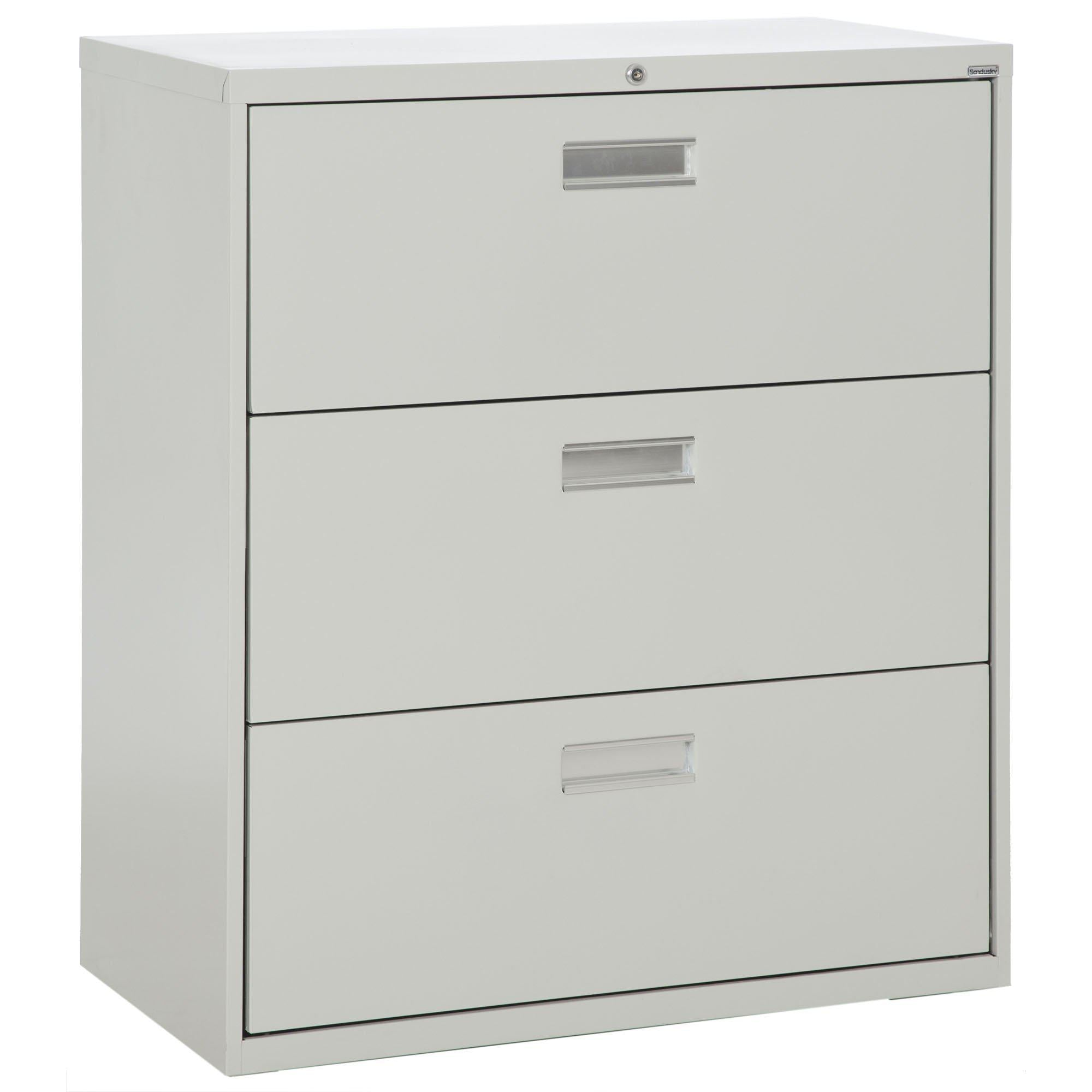 600 Series Lateral File, 3 Drawer, 42 x 19.25 x 40.875, Dove Gray