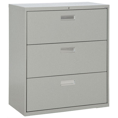 600 Series Lateral File, 3 Drawer, 42 x 19.25 x 40.875, Multi Granite