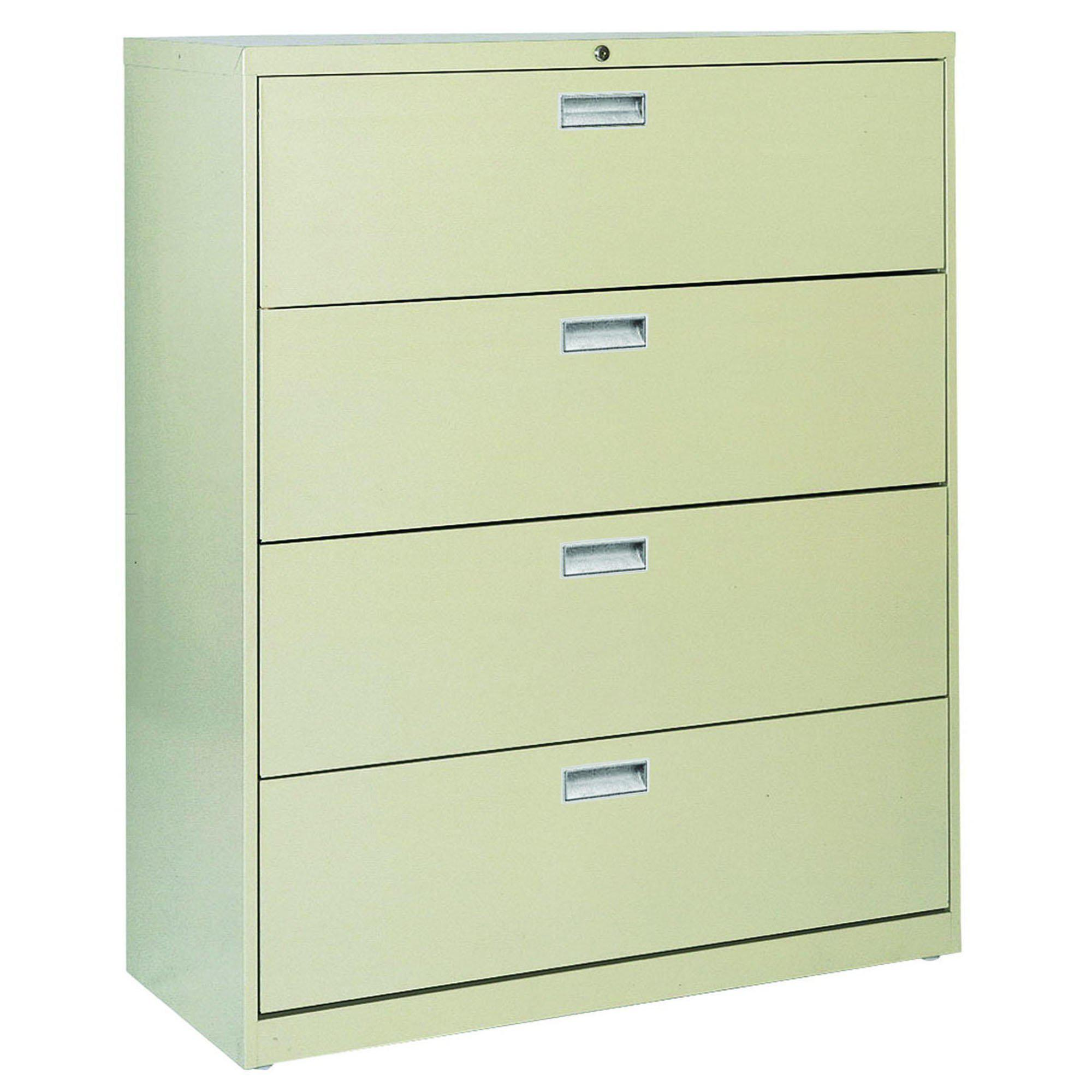 600 Series Lateral File, 4 Drawer, 42 x 19.25 x 53.25, Putty