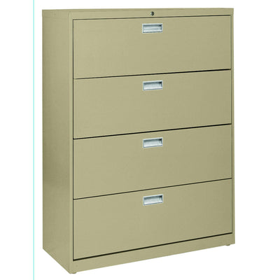 600 Series Lateral File, 4 Drawer, 42 x 19.25 x 53.25, Tropic Sand