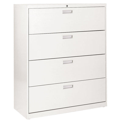 600 Series Lateral File, 4 Drawer, 42 x 19.25 x 53.25, White