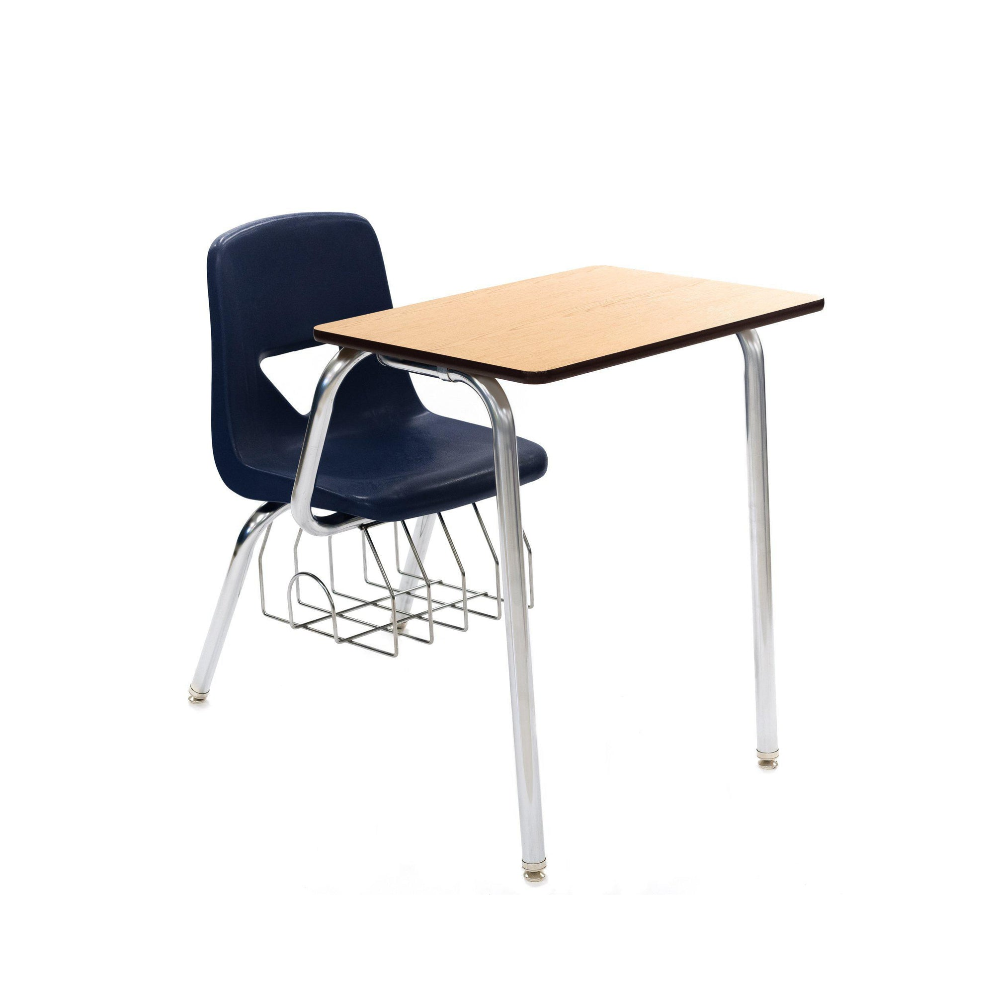 620 Series Combo Desk, Navy Seat, Oak Top